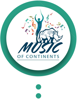 MUSIC OF THE CONTINENTS in circle